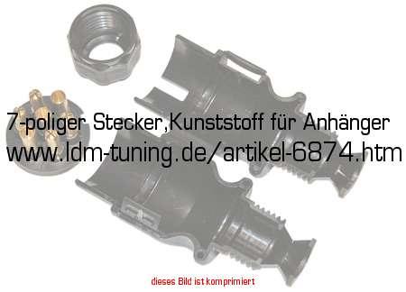 7-poliger Stecker,Kunststoff für Anhänger in Anhänger