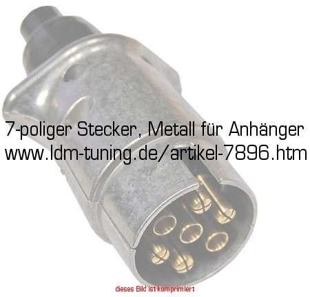 7-poliger Stecker, Metall für Anhänger in Anhänger