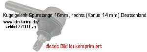 picture of article Ball joint for track rod 16mm, right hand (cone 14 mm) Germany