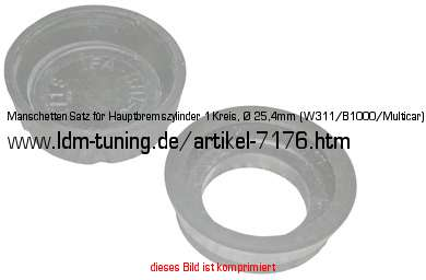 picture of article Sleeve set for brake master cylinder (1-circuit) Ø 25,4mm = 1