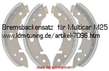 bremsbackensatz f r multicar m25 in ifa fahrzeuge. Black Bedroom Furniture Sets. Home Design Ideas