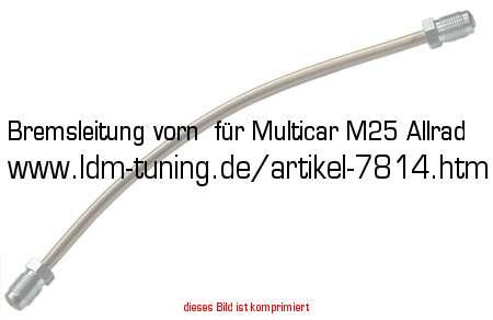 bremsleitung vorn f r multicar m25 allrad in ifa fahrzeuge. Black Bedroom Furniture Sets. Home Design Ideas
