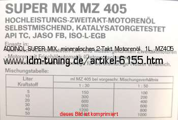 addinol super mix mineralisches 2 takt motoren l 1l. Black Bedroom Furniture Sets. Home Design Ideas