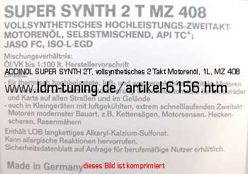 addinol super synth 2t vollsynthetisches 2 takt motoren l. Black Bedroom Furniture Sets. Home Design Ideas
