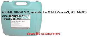 picture of article ADDINOL SUPER MIX, 2-stroke motor oil,  20 Liter, MZ405