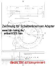 picture of article Technical drawing disk brake adapter
