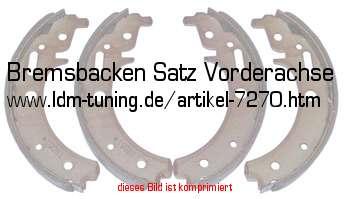 Hebel Federnsatz Radbremszylinder Trabant 601 Bremsenkit hinten Bremsbacken