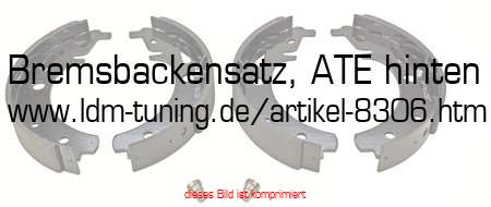 picture of article Rear brake shoe set ATE