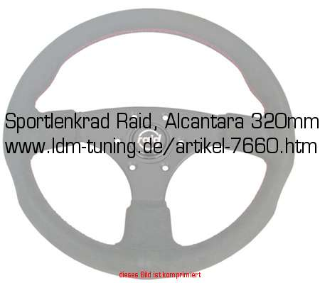 picture of article Tuning steering wheel, Alcantara 320mm
