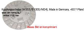 picture of article Clutch disk (W353/B1000/M24), Made in Germany, +50€ deposit