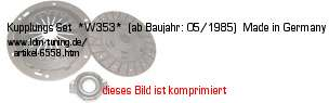 Bild vom Artikel Kupplungs-Set  *W353*  (ab Baujahr: 05/1985)  Made in Germany