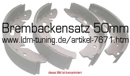picture of article Brake shoe set 50mm, long lining
