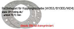 picture of article Friction surface for clutch disc  (W353/B1000/M24)