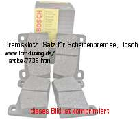 picture of article Brake lining kit for disc brake, Bosch